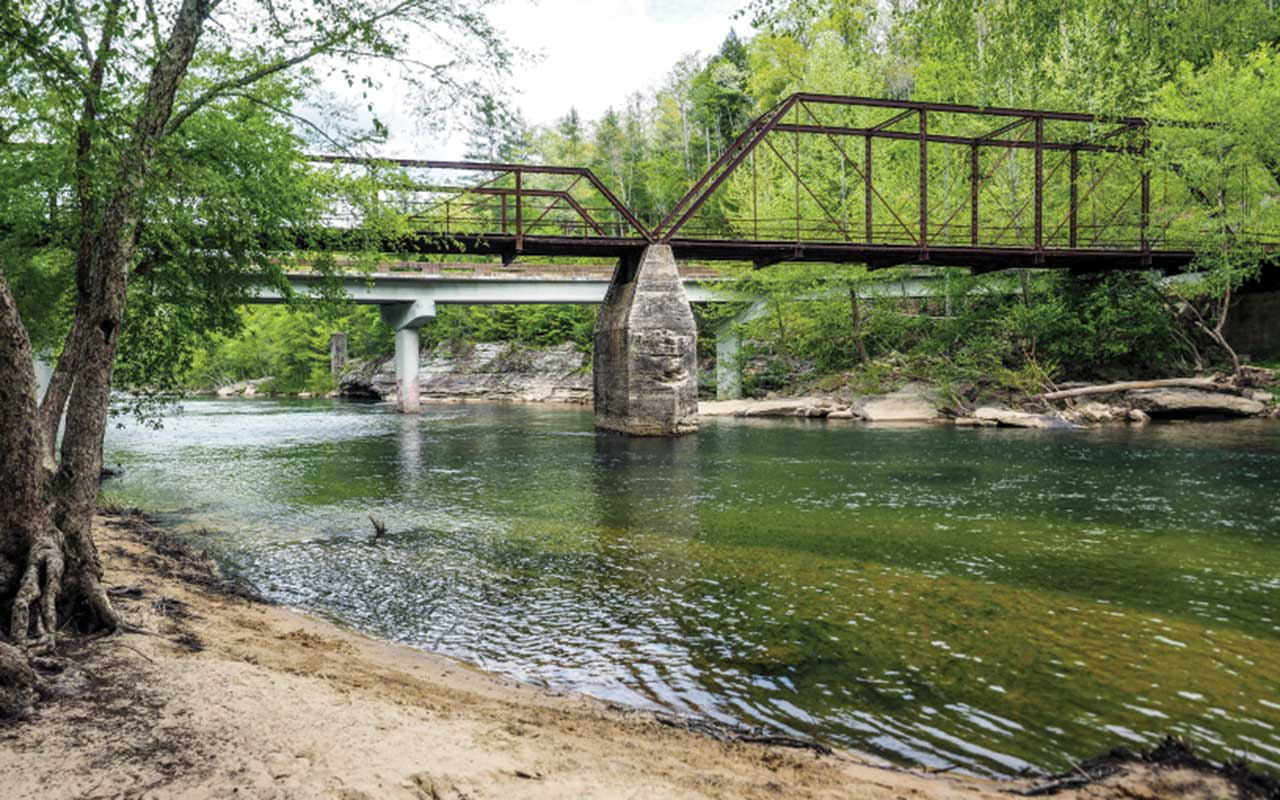 Burnt Mill Bridge in Big South Fork National River and Recreation Area