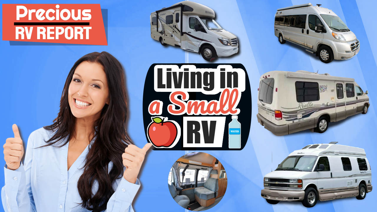 Living in a small RV: Our Four Best RV models are shown in this image.